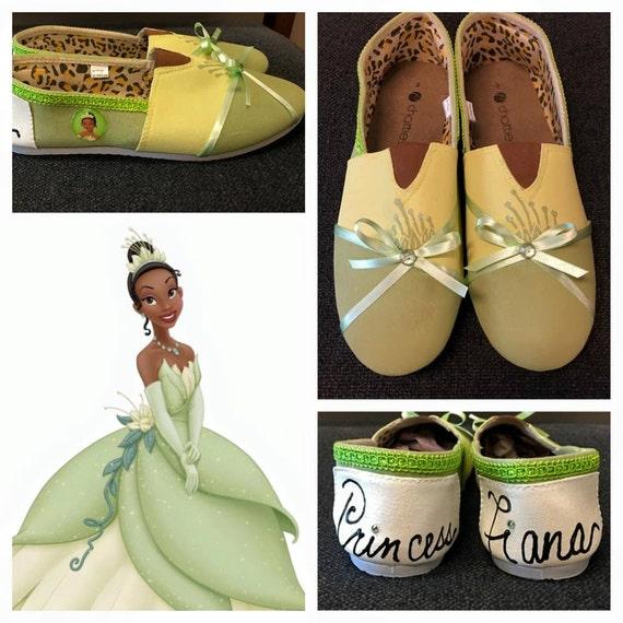 Princess Tiana Shoes: Princess Tiana Inspired Shoes Tiana Princess Shoes Princess