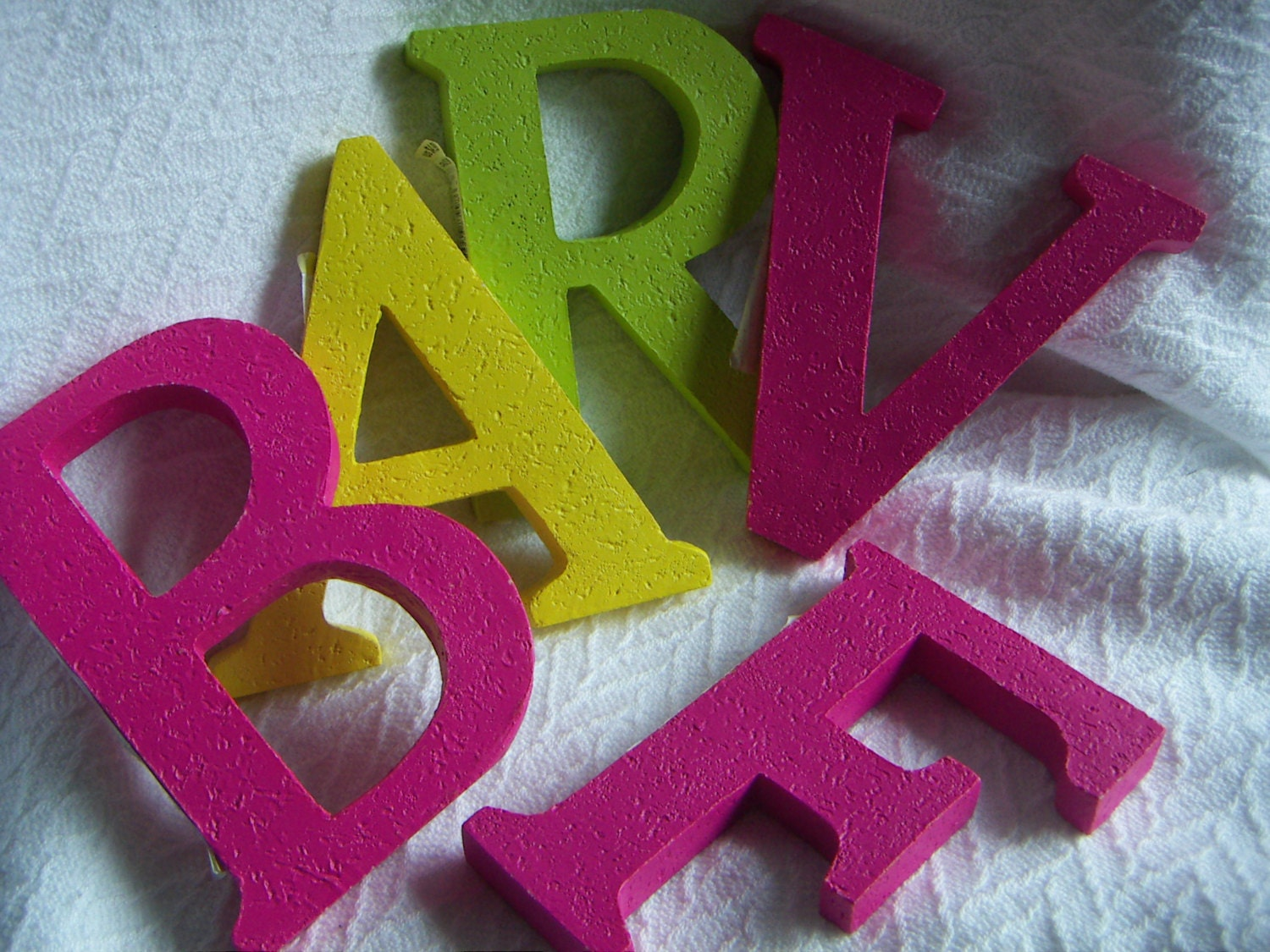 Colorful large neon letters hot pink lime green neon yellow for Large neon letters