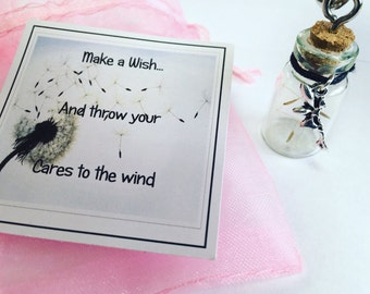 A bottle full of wishes keychain / Bag charm