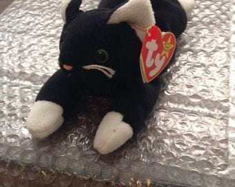 Rare TY Beanie Babies Zip -Swing Tag w/Errors, PVC Pellets, No Red Star No Stamp 1993