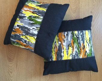 1950s Bark Cloth Cushions
