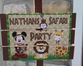 Safari Mickey Yard Sign