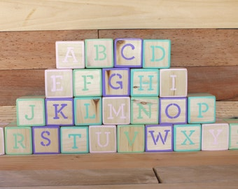 alphabet blocks photo prop abc blocks baby shower baby gift baby blocks wooden blocks newborn photo prop imagination toys Montessori newborn