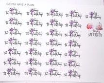 Birthday Countdown Planner Stickers for Erin Condren, Happy Planner, Filofax, Scrapbooking