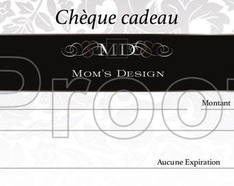 gift voucher / gift certificate