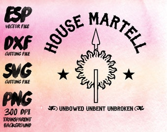 game of thrones House Martell Clipart , SVG Cutting , ESP Vectors files , T shirt , iron on , sticker ,Personal Use