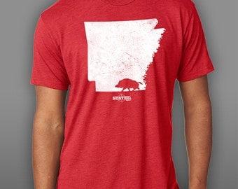 Arkansas Walking Hog Blended T-Shirt