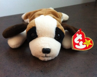 Vintage Ty Beanie Baby - Bernie The Saint Bernard - Ty Original - Childs Toy - Soft Stuffed Toy Dog - Gift for the Collector