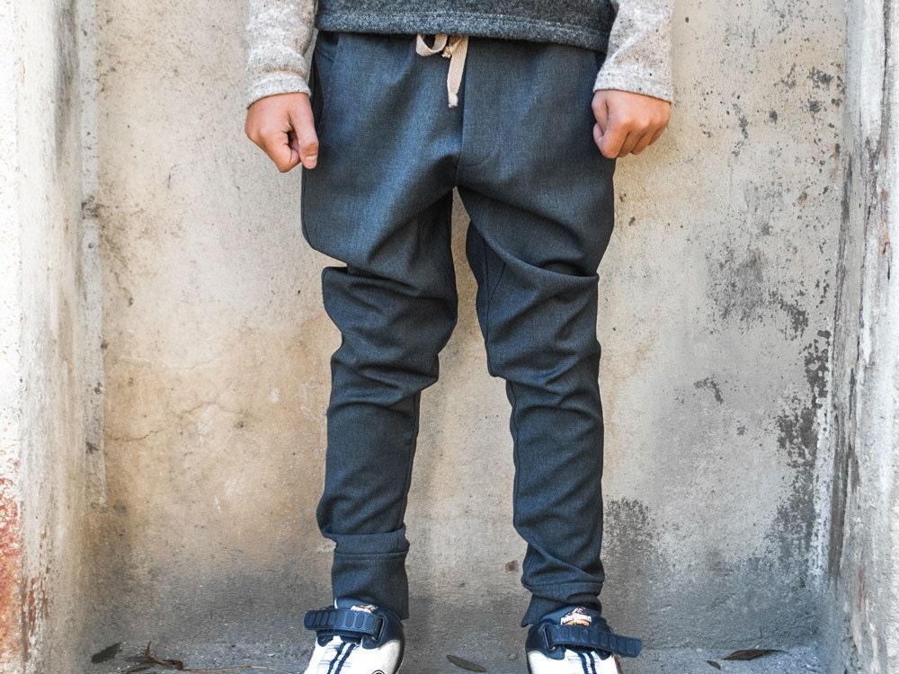Boys drop crotch pants/Toddler boys harem pants/Low crotch