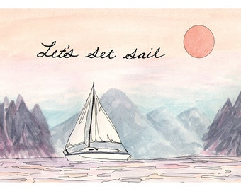 Let's Set Sail Card