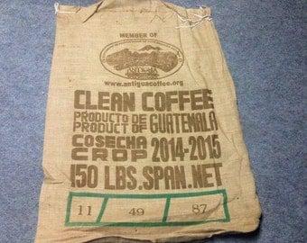 SUPPLY:  Burlap Bag