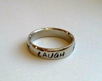 Live Laugh Love Ring, love ring, love, laugh, live, laugh ring, inspirational jewelry, inspirational ring, motivational jewelry, inspiring