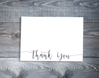 Classic Thank You Note Set of 9