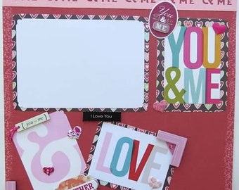 "You & Me 12x12"" Scrapbook Page"