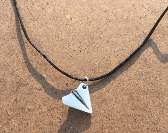 paper airplane choker