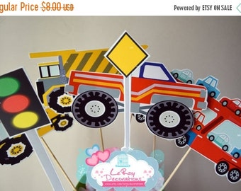 ON SALE 15% OFF Big Rig Centerpiece, Big Rig birthday, Big Rig birthday decorations