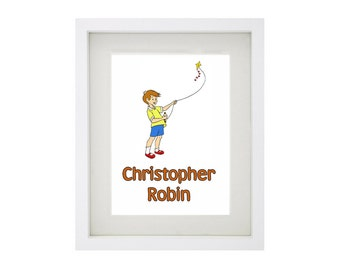CHRISTOPHER ROBIN from Winnie The Pooh Framed Art Print Collection - Walt Disney
