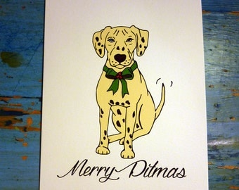Merry Pitmas Christmas card - PACK OF 5