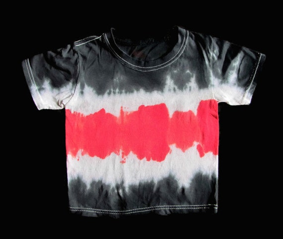 Red Black Sport Stripe Tie Dye T Shirt 100 By Mountainloafers