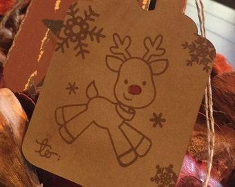 Rustic Reindeer Tag
