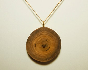Live edge timber pendant