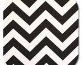 Premier Prints ZigZag Chevron in Black Twill Home Decor fabric, 1 yard