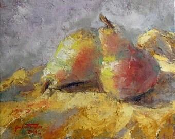 """A Pair of Pears- 8""""x10""""-Garland Fulghum"""