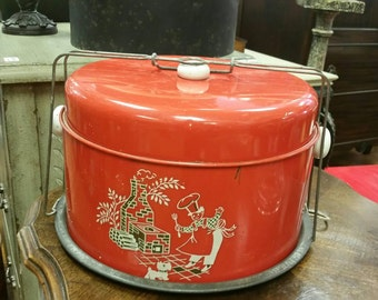 Red Backyard Chef Cake & Pie Carrier