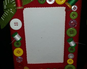 Adorable 4x6 Sewing Themed Frame