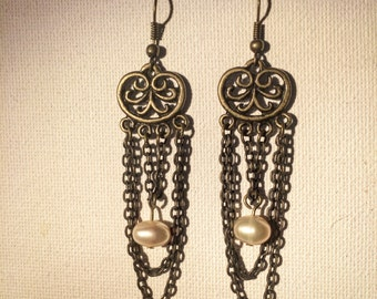 Pearl Drape Earrings