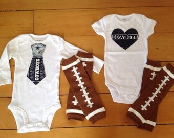 Go Dallas Cowboys! Baby Bodysuit Set For Little Cowboys Fan. Cowboys Baby  Girl Cowboys