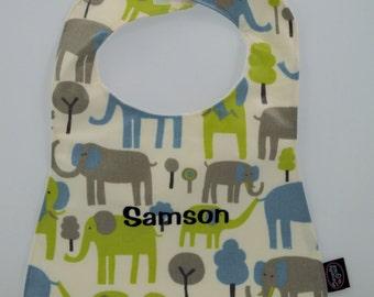 Personalized Baby Bib, elephant