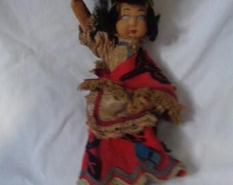 Vintage 1960's Carmen Mitanda Doll