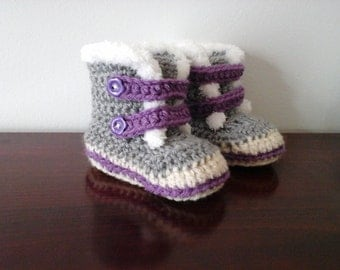 Boot for baby to crochet Baby booties crochet (on order)