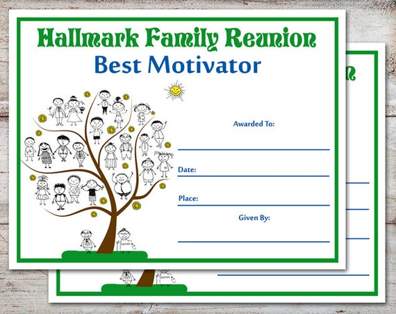 Witty image pertaining to free printable family reunion certificates