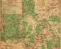Lewis and Clark in the Rocky Mountains.  Lewis and Clark Expedition in Northern Region covers Idaho, Montana, Rocky Mountains. Misu0014