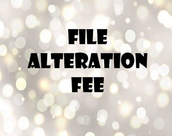 File Alteration Fee
