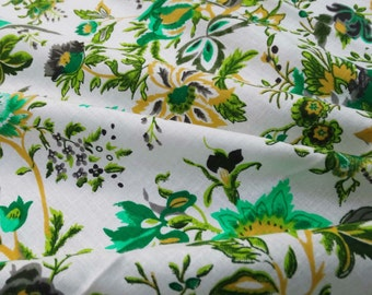 "Floral Printed Pure Cotton Fabric Indian Decorative Fabric For Sewing 41"" Wide Crafting Dressmaking Material Cotton Fabric By 1 Yard ZBC5572"