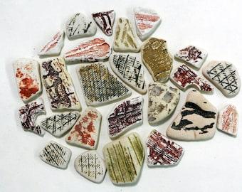 Precious finds: ceramic mosaic pieces
