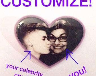 You + Your Crush Heart Pin