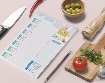 Printable Weekly Meal Planner - Instant Download - Meal Calendar - Weekly Meal Planner - Meal Plan Printable