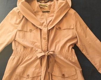 Vintage 1980 giacket//medium size//Heather//autumn jacket with hood//