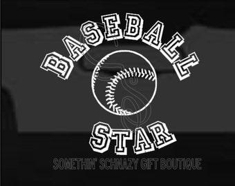 Baseball Decal, Vinyl Decal, Baseball Star, Baseball Vinyl Decal, Window Decal, Car Decal, Laptop Decal, Tablet Decal, Baseball Family Decal