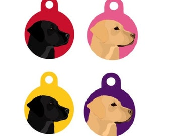 Dog ID Tag - Labrador (Personalised)