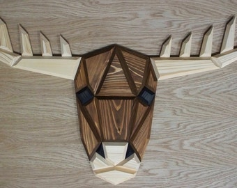 wooden moose wall decor
