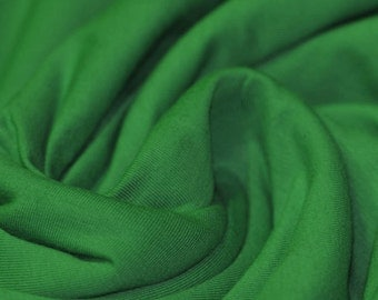 Grass Green - Cotton Lycra Jersey Knit Fabric