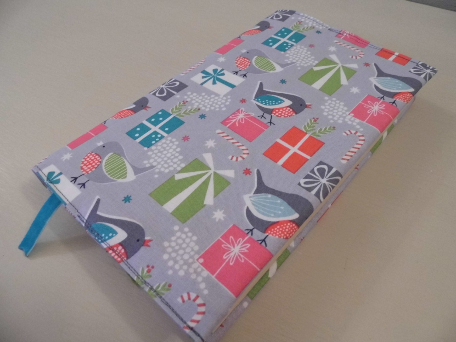 Cloth Book Covers For Sale ~ Sale lovely robins handmade fabric book cover