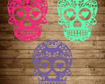 Sugar Skull decal, sugar skull yeti decal, sugar skull sticker, day of the dead, skull yeti decal, skull decal, car decal, tumbler decal