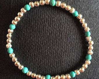 Silver plated & turquoise