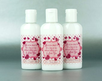 Personalized. Valentine's Day. 1oz Lotion
